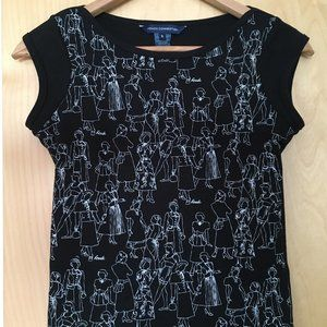 EUC FCUK French Connection Fun Print Top XS S